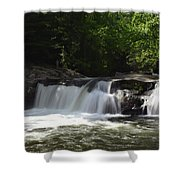 Baby Falls Shower Curtain