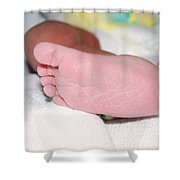 Baby Foot Shower Curtain