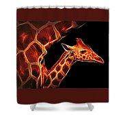 Baby Giraffe Shower Curtain