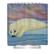 Baby Harp Seal Shower Curtain