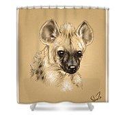 Baby Hyena Shower Curtain