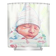 Baby James Shower Curtain