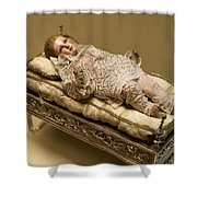 Baby Jesus In Lace Shower Curtain