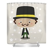 Baby Magician Shower Curtain