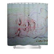 Baby Moses On The River Shower Curtain