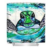 Baby Sea Turtle Shower Curtain