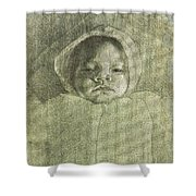 Baby Self Portrait Shower Curtain
