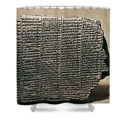 Babylonian Calendar Shower Curtain