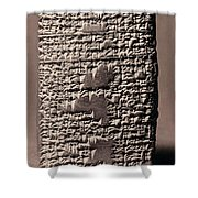 Babylonian Recipies Shower Curtain