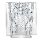 Babylonian Sphinx Lamassu Shower Curtain