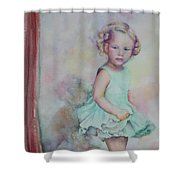 Baby's Debut Shower Curtain