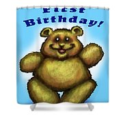 Babys First Birthday Shower Curtain
