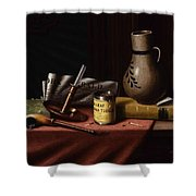 Bachelor S Table By William Michael Harnett Shower Curtain
