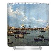Bacino Di San Marco From Canale Della Giudecca Shower Curtain