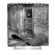 Back Alley Bow Shower Curtain