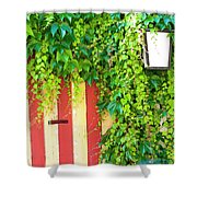 Back Alley Color Shower Curtain