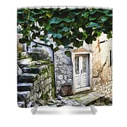 Back Alley Living Shower Curtain