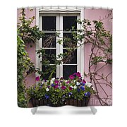 Back Alley Window Box - D001793 Shower Curtain