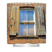 Back Alley Windows Of Savannah Shower Curtain
