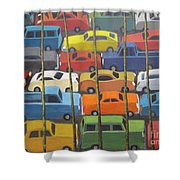 Back And Forth Shower Curtain