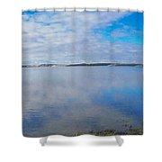 Back Bay Boardwalk Shower Curtain