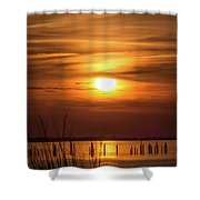 Back Bay Sunset Shower Curtain