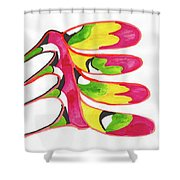 Back Bone Shower Curtain