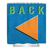 Back Button Shower Curtain