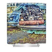 Back End Bugs Shower Curtain