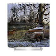 Back Forty Shower Curtain