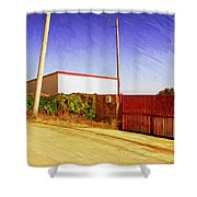 Back Gate Shower Curtain