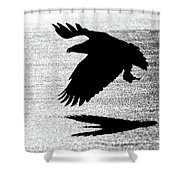 Back Lit Beauty On Ice Shower Curtain