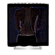 Back Of Beads Shower Curtain