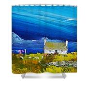 Back  Of Keppoch Cottage, Arisaig Shower Curtain