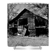 Back On The Farm Black And White Shower Curtain