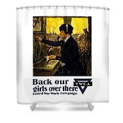 Back Our Girls Over There Shower Curtain by War Is Hell Store