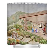 Back Patio Shower Curtain