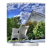 Back Porch In Summer Shower Curtain