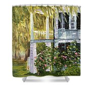 Back Porch Of Grove Plantation, Ace Basin Shower Curtain