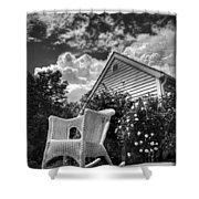 Back Porch Rocking Chair Shower Curtain