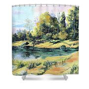 Back River Solitude Shower Curtain
