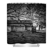 Back Road Farm House Shower Curtain