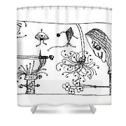 Back Rooms Of My Mind Door# 150515 Shower Curtain