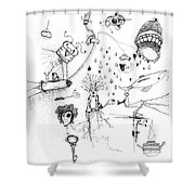 Back Rooms Of My Mind Door 17715 Shower Curtain