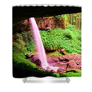 Back Side Of Silver Falls Shower Curtain