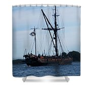 Back Side Pirates Shower Curtain