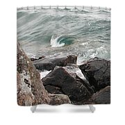 Back Swirl Shower Curtain