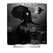 Back To Black Shower Curtain