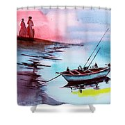 Back To Pavilion 2 Shower Curtain