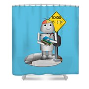 Back To School Little Robox9 Shower Curtain